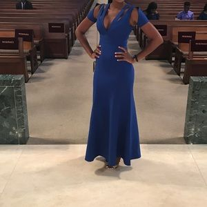 Bcbgmaxazria Long Blue Dress